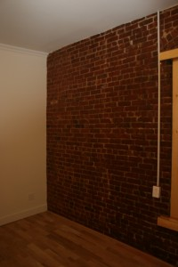 Exposed bricks make a space feel solid & safe.